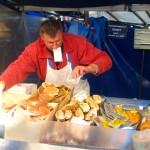 Fishmonger at the Marche Raspail